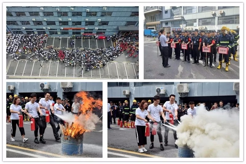 开展应急疏散及消防灭火演练活动